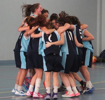 Les jeunes du Sport-Etudes laissent éclater leur joie après leur succès (photo Lionel Subra)