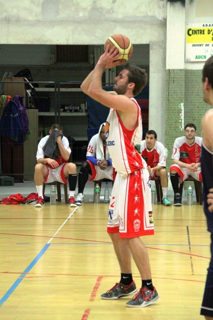 Yohan Desbarats n'aura passé qu'une saison à Auch (photo : Auch Basket Club)