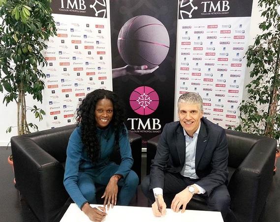 Emilie Gomis entend bien permettre au TMB d'accrocher une place dans le top 8 (photo : TMB)