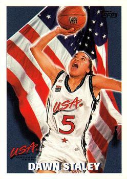 Dawn Staley, une des joueuses cadres de l'équipe des Etats-Unis pour les JO de 1996 (photo: tradingcarddb.com)