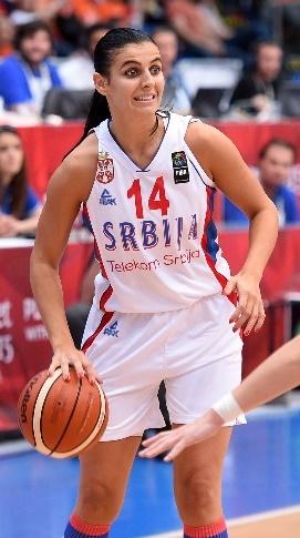 Ana Dabovic a fait très mal aux Bleues avec ses 25 points (photo : FIBA)