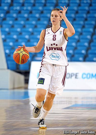 Renate Reine, internationale lettonne chez les jeunes, rejoint l'USc (photo : FIBA)