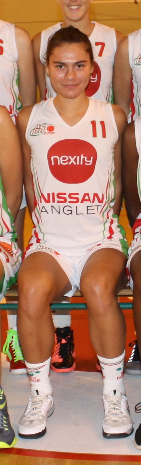 Marie Alibert évoluait cette saison à Anglet en Nationale 2 (photo : ACBB)