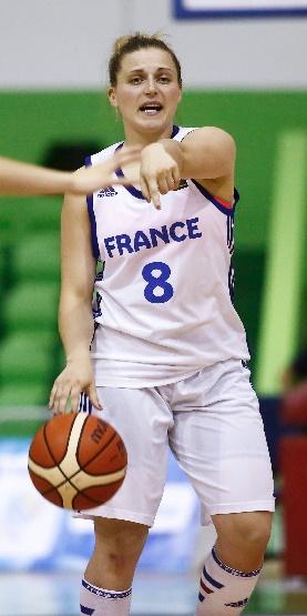 Mégane Hero et les Françaises abordent la deuxième phase avec le plein de confiance (photo : FIBA)