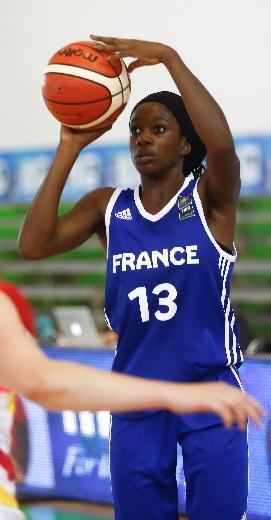 Marie Mané et l'équipe de France réalisent un sans faute (photo : FIBA)