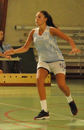 Meilleure marqueuse de la rencontre avec 21 points, Caroline Berges a signé son entrée au sein de l'AST (photo : Benjamin Bonneau)