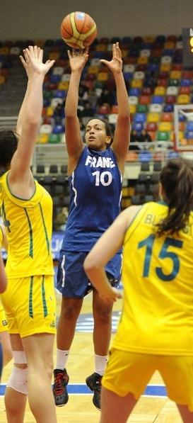 Martine Barba, ici sous le maillot de l'équipe de France chez les jeunes (photo : FIBA)